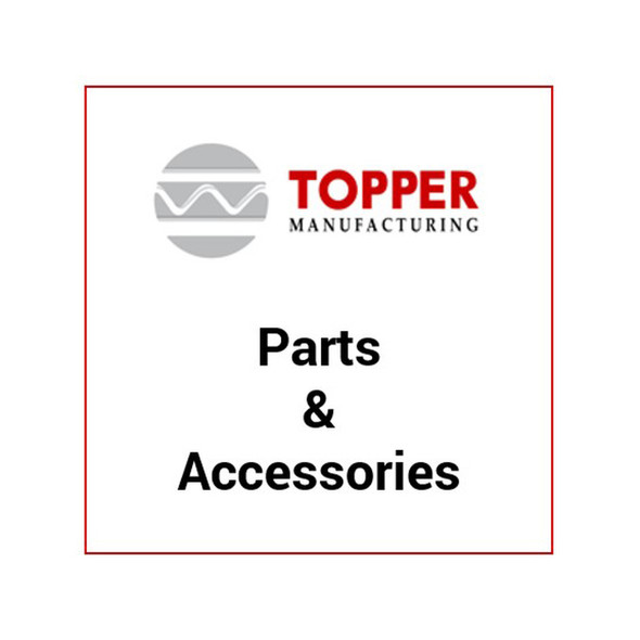 "Topper 201163-H 63"" Cross Bar w/J Hook Holes (1) - Full size & Extended Ford vans w/rain gutter mount 6 lbs."