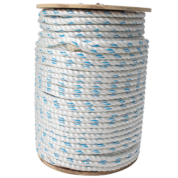 "Werner L201600B - 600' Bulk Spool of polyester-polypropylene blend, 5/8"" diameter, 3-strand Rope Lifeline"