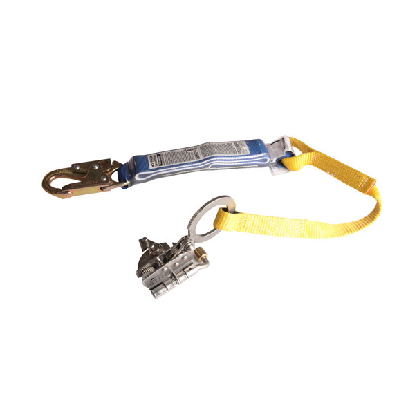 Werner L240001 Stainless Steel Trailing Rope Grab with Shock Absorbing Lanyard
