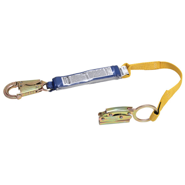 Werner L210101 3ft Manual Rope Adjuster with Shock Absorbing Lanyard