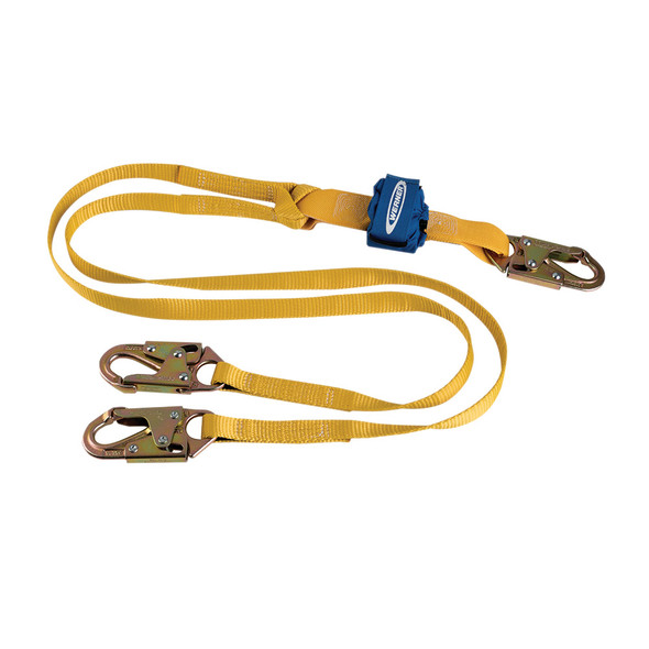 Werner DCELL Lite C611100 lanyard features a Compact Shock Pack | Snap Hook - Snap Hook