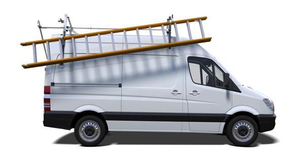 "Prime Design ""ErgoRack"" Drop Down Ladder Rack | Mercedes Sprinter"