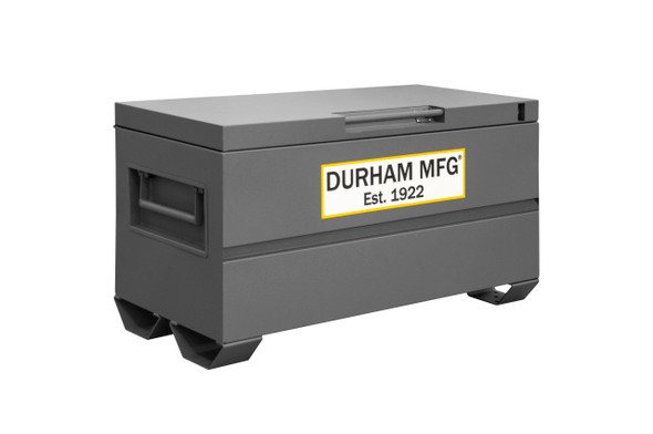 Durham Jobsite Storage Box, 16 cu. ft., 14 Gauge Steel, 48 x 24 x 27-13/16, Gray
