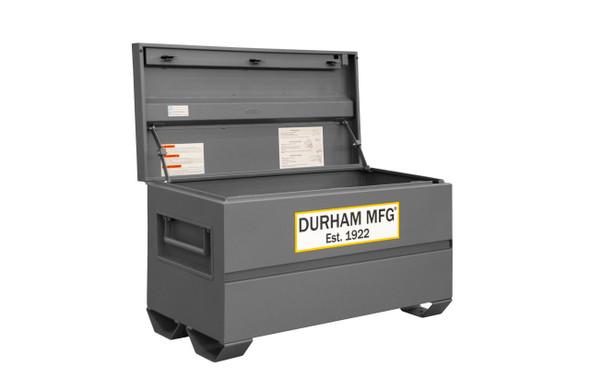 Durham Jobsite Storage Box, 16 cu. ft., 14 Gauge Steel, 48 x 24 x 27-13/16, Gray