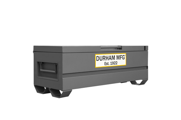 Durham Jobsite Storage Box, 20 cu. ft., 14 Gauge Steel, 60 x 24 x 22-3/4, Gray