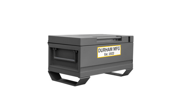 Durham Jobsite Storage Box, 5 cu. ft., 14 Gauge Steel, 32 x 19 x 17-13/16, Gray