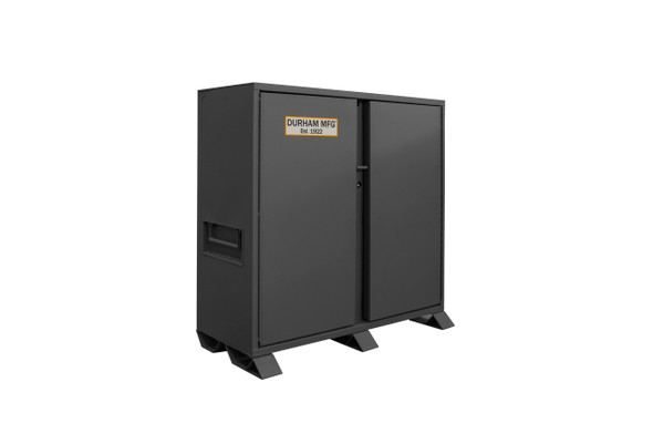 Durham Jobsite Storage Cabinet, 47.5 cu. ft., 14 Gauge Steel, 60 x 27-1/4 x 60-3/4, Gray