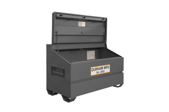 Durham Slope Lid, Jobsite Storage Box, 31 cu. ft., 14 Gauge Steel, 60 x 30 x 39-3/8, Gray