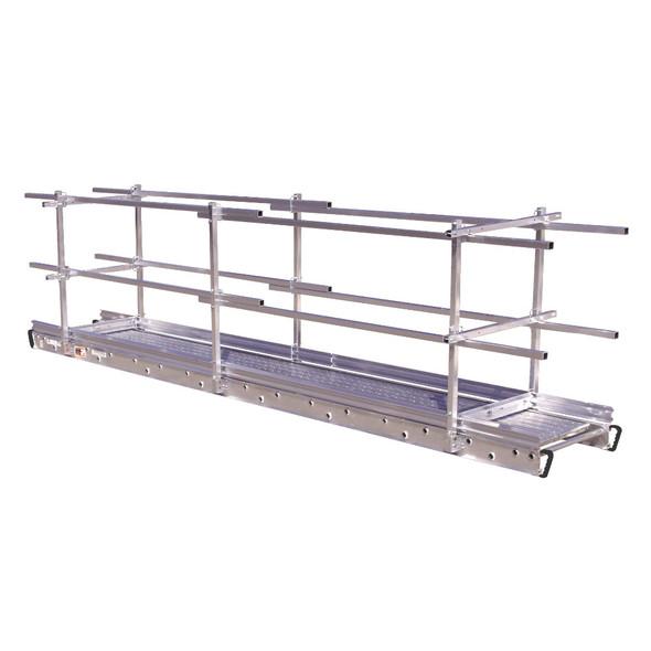 "Werner SGR-09 | 9' (108"") 1.5"" Square Aluminum Guardrail"