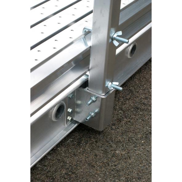 "Werner STB-09 | 9' (108"") 3.5"" Aluminum Toe Board for Werner Stages"