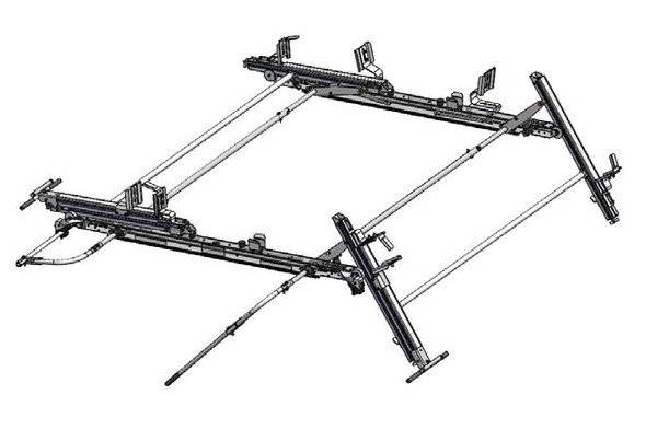 Adrian Steel #DDLR63NVH Double Drop Down Ladder Rack for Nissan NV High Roof