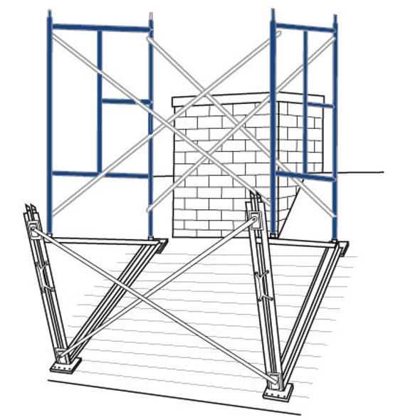 Chimney Brackets for Erection of 5' Scaffold Frames