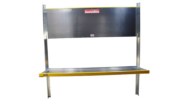 "Unique HFS2472 Folding Shelf Assembly | 24"" Deep x 72"" Long "" | Universal fit | 2 Shelves per assembly"