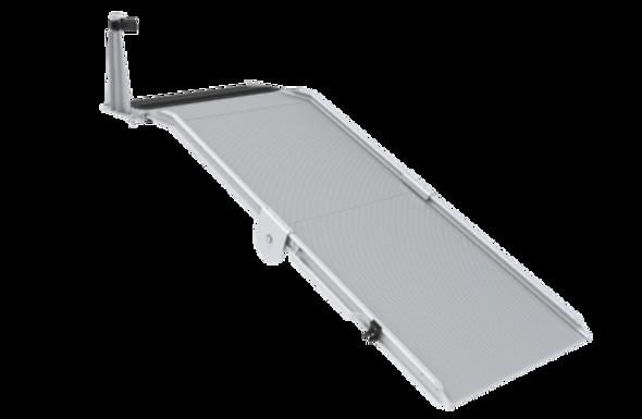 Link Mfg. | LB20 Series Bi-fold Mount / Standard Mounted Aluminum Ramps | NO Spring Assist