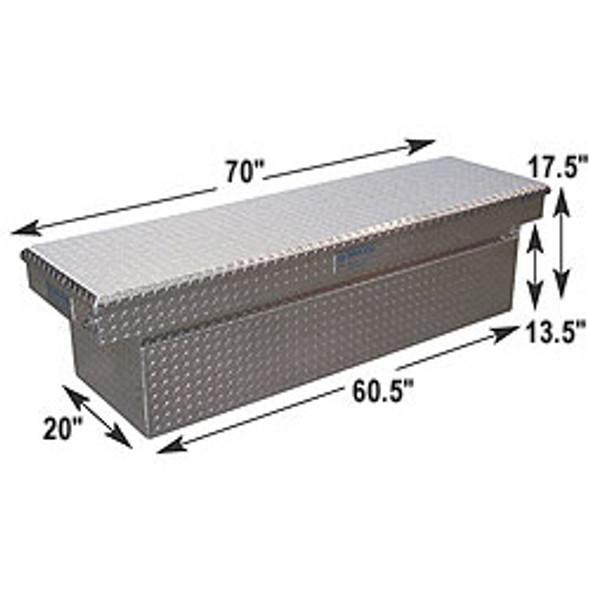 Adrian Steel #AD101 Aluminum Single Lid Crossbox, 70w x 17.5h x 20d