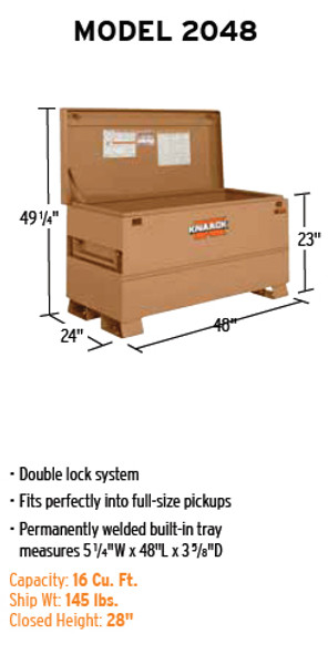 Discontinued | See item #2048-BB | Knaack Model 2048 CLASSIC Chest, 16 cu ft