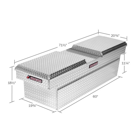 WeatherGuard Model 124-X-01 Cross Box, Aluminum, Full Standard, 11.3 cu ft