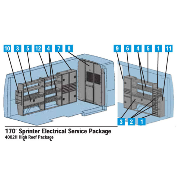 "Adrian Steel 4002H - Sprinter Interior Electrical Package - 170"" Wheelbase #4002H"