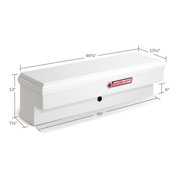 WeatherGuard Model 185-3-01 Lo-Side Box, Steel, Short, 3.2 cu ft