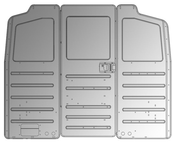 Adrian Steel #S1M1HC1FSV Steel Partition Panel Kit w/ Door Kit, Gray, Multiple Vehicles