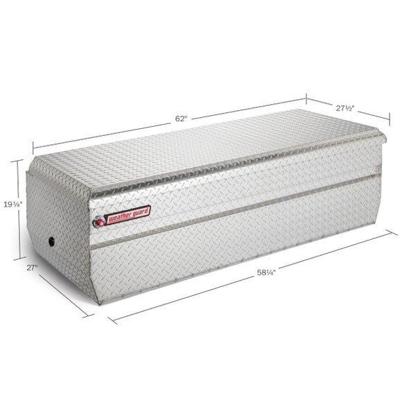Weather Guard Model 684-X-01 All-Purpose Chest, Aluminum, Full Extra Wide, 18.6 cu ft