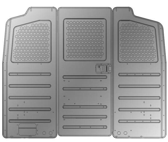 Adrian Steel #S2M2HC2FSV Steel Partition Panel Kit w/ Visibility & Door Kit, Gray, Multiple Vehicles