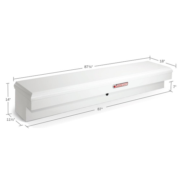 WeatherGuard Model 166-3-01 Super Lo-Side Box, Steel, 9.2 cu ft