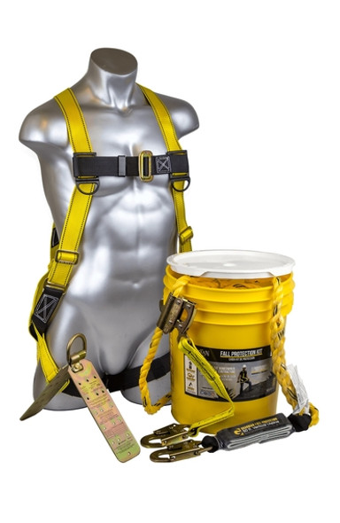 "Guardian Fall Protection 00815 | Bucket of ""SAFE-TIE"" - 50' Kit"