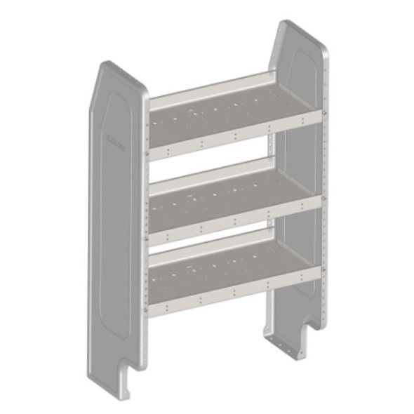 Adrian Steel #AD28NV2 Adjustable 3-Shelf Unit, 27w x 46h x 14d, Gray / fits NV200 and City Express