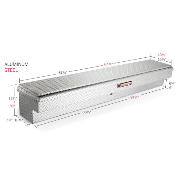 WeatherGuard Model 164-X-01 Lo-Side Box, Aluminum, Long, 6.4 cu ft