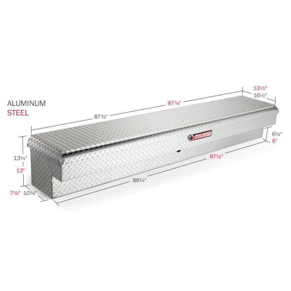 Weather Guard Model 164-X-01 Lo-Side Box, Aluminum, Long, 6.4 cu ft