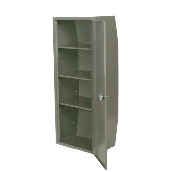 Adrian Steel #CL1446R Adjustable 3-Shelf Cabinet w/ Lock, Full Door, 18w x 46h x 14d, Gray