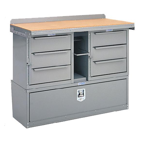 Adrian Steel #MD509 Workbench Module, 42w x 31h x 18d, Gray