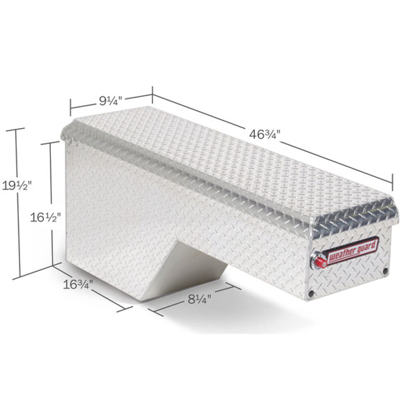 WeatherGuard Model 170-X-01 Pork Chop Box, Aluminum, Driver Side, 2.1 cu ft