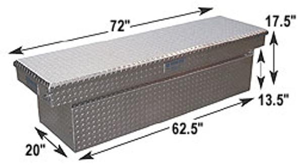 Adrian Steel #AD101-2 Aluminum Single Lid Crossbox, 72w x 17.5h x 20d