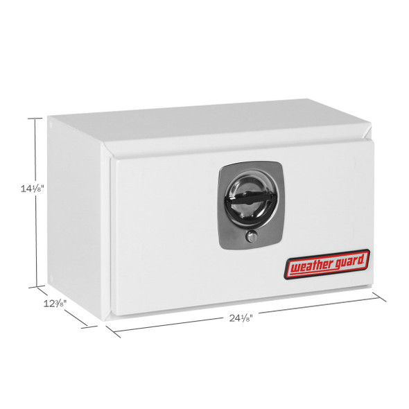 Weather Guard Model 525-X-02 Underbed Box, Steel, Compact, 2.3 cu ft