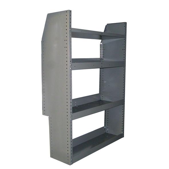 Adrian Steel #HD32TC 4-Shelf Unit, 32w x 46h x 12d, Gray