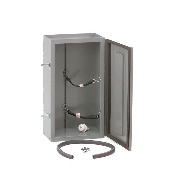 Adrian Steel #TA20 Compressed Gas Tank Cabinet, 14w x 26h x 8d, Gray