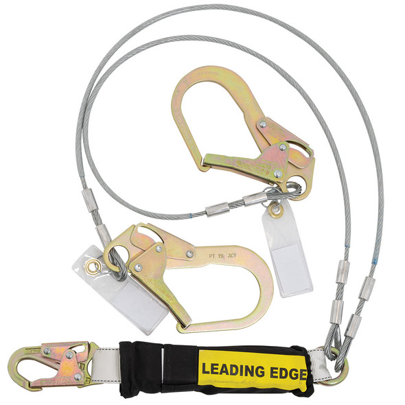 Werner C461220LE Twin Leg - Cable LEADING EDGE Lanyard - ReBar Hook