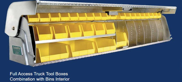 System One - Full Access Truck Tool Boxes | Full Access Combination with Bins Interior