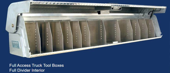 System One - Full Access Truck Tool Boxes | Full Access Divider Interior