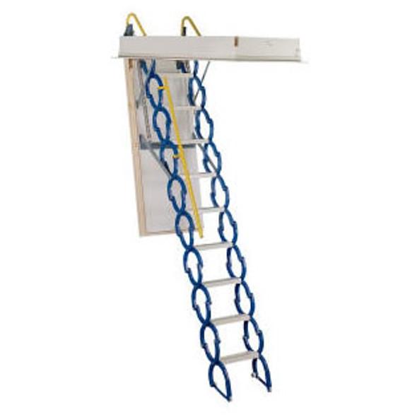 "Rainbow Prestige Attic Stair M2554 Telescoping Steel Attic Ladders | 25"" x 54"" Opening / 9' Ceiling Height"