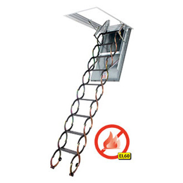 "Fakro LSF 66858 Scissor Style  Attic Ladder | ""FIRE RATED"" 