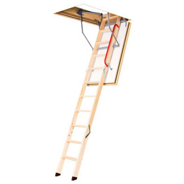 "Fakro LWF 869720 Wood Attic Ladder | ""FIRE RATED"" & ""Insulated"" 