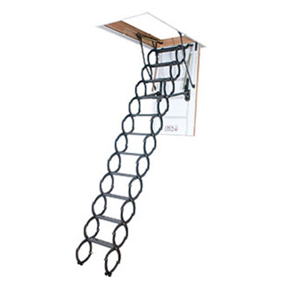 "Fakro LST 66877 Metal Scissor Attic Ladder ""INSULATED"" 
