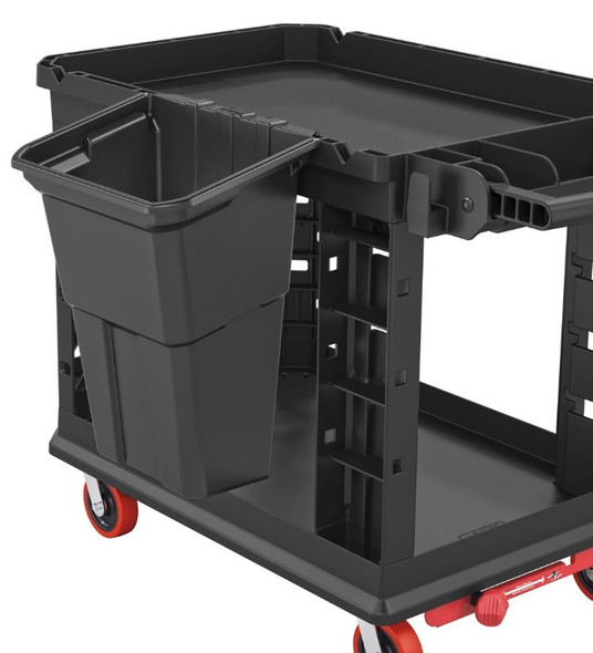 Suncast BIN17222 - Waste Bin Accessory, 8 Gallon for the Suncast Utility Carts (2 Pack)