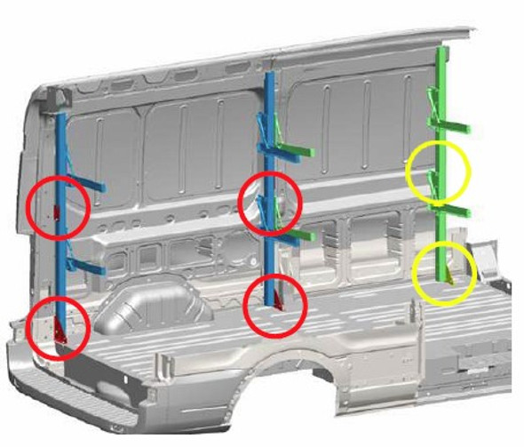 Adrian Steel FSFMKFTA Folding Shelf Mount Add-On Kit Ford Transit