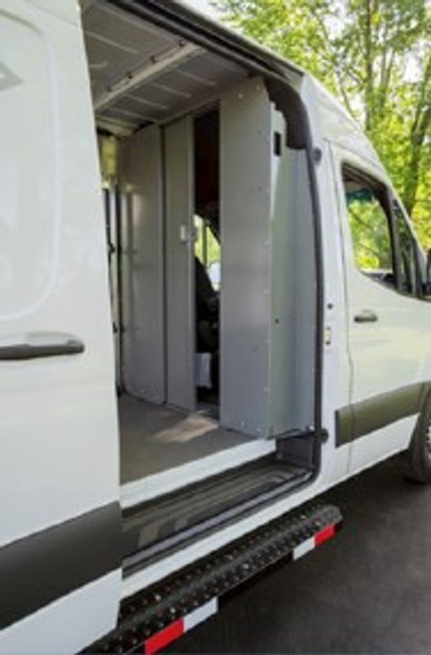 Adrian Steel SPARFTH Sliding Partition, Ford Transit High Roof
