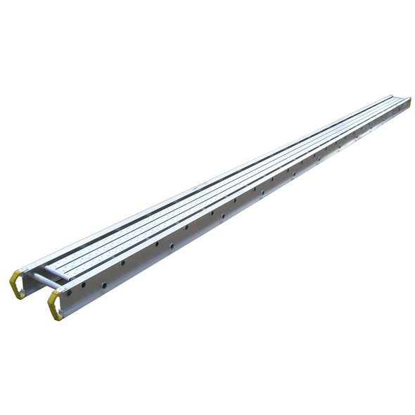"Werner 2416 Aluminum Stages - 16 Ft Long | 14"" Wide 2-Person 500 lb Capacity"