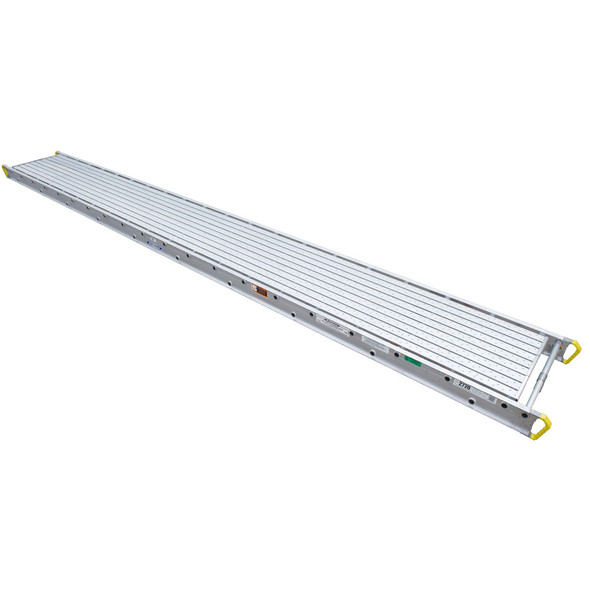 "Werner 2720 Aluminum Stages - 20 Ft Long | 28"" Wide 2-Person 500 lb Capacity"